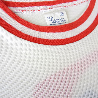 VALVOLINE MOTOR OIL ヴィンテージTシャツのネック部分ディテール画像2