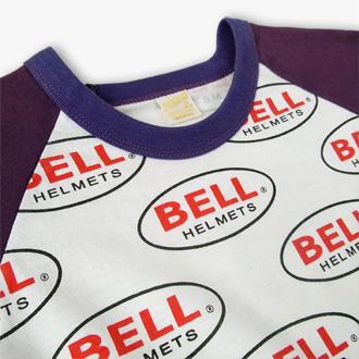 BELL HELMETS ヴィンテージTシャツのネック部分ディテール画像2