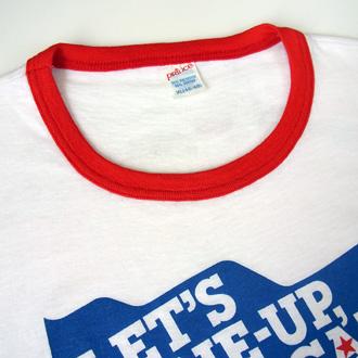 CHAMPION SPARK PLUG ヴィンテージTシャツのリンガー袖部分ディテール画像